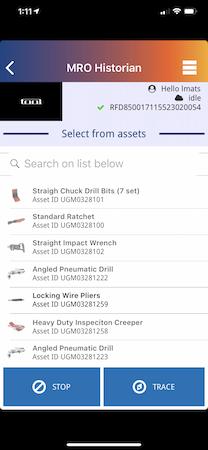 Mobile asset list