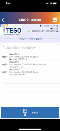 Mobile asset search