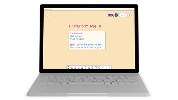 Microsoft Whiteboard text typing using keyboard