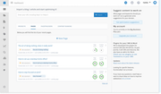 Textmetrics -  projects and pages dashboard