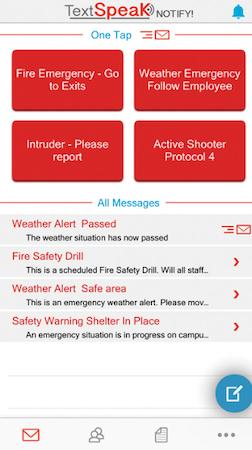 TextSpeak NOTIFY! alert options