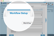 PolicyManager workflow setup screenshot