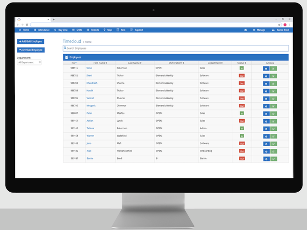 TimeCloud employee data