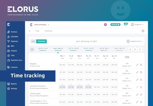 Elorus time tracking