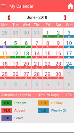TimeCheck calendar