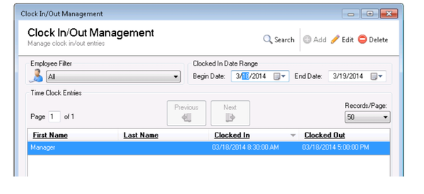 TimeDrop Time Clock time entry management