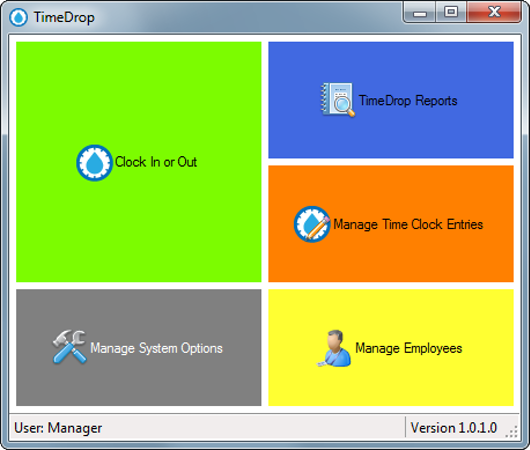 TimeDrop Time Clock home page