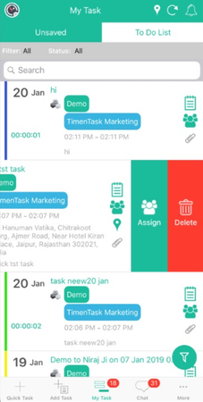 TimenTask to-do lists