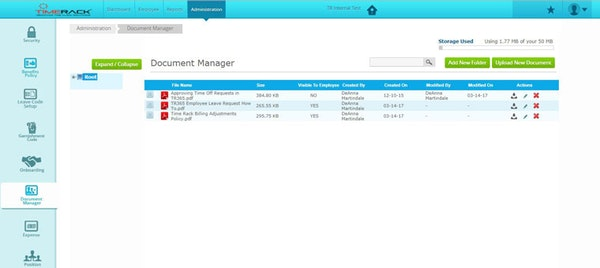 Time Rack document manager