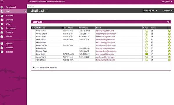 TimeSavr staff list