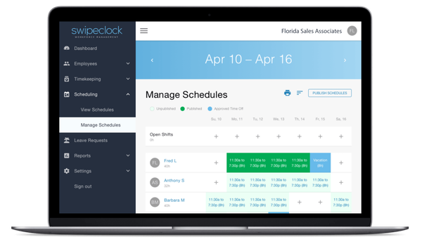 TimeSimplicity manage schedules
