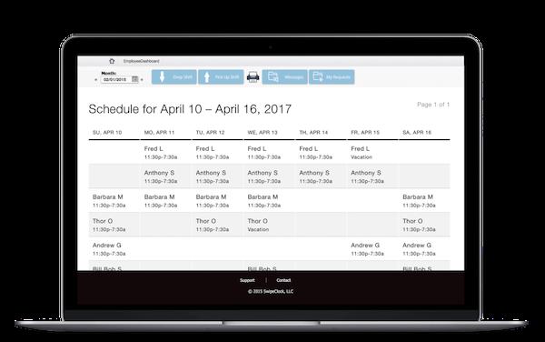 TimeSimplicity schedule