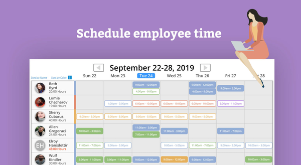 Time Tracker Employee Scheduling