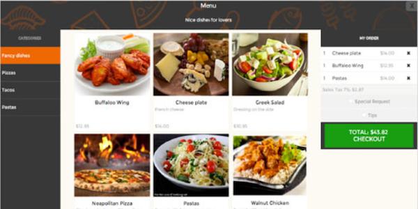 Trackin menu