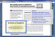 IMSXpress ISO 9001 training screenshot