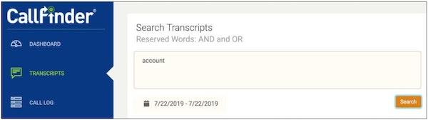 CallFinder transcriptions