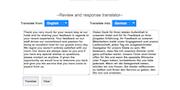 Revuow review and response translator