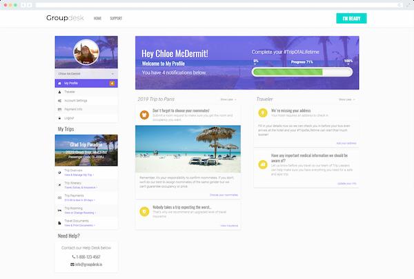 Groupdesk traveller profile