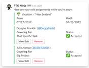 PTO Ninja assignment management