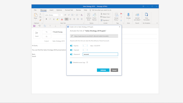 Outlook addon