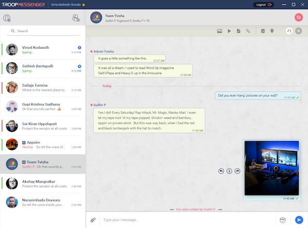 Troop Messenger Chat