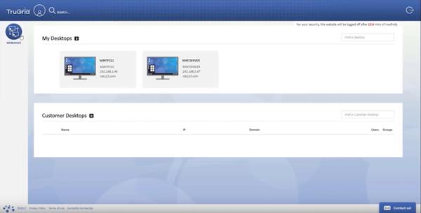 TruGrid saved desktop