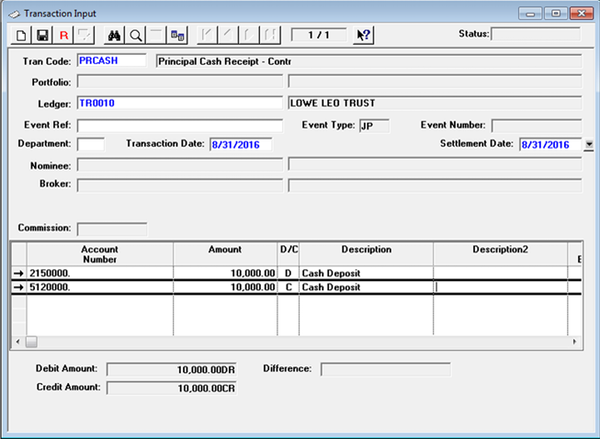 TRUSTprocessor transaction input