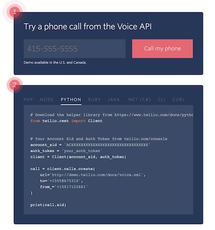 Twilio Voice API