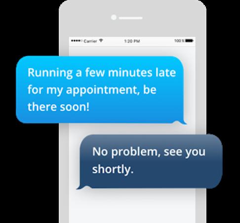 Demandforce two-way text