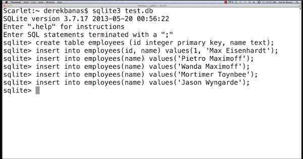 SQLite command center