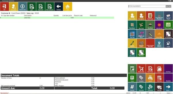 Fully configurable touchscreen menu