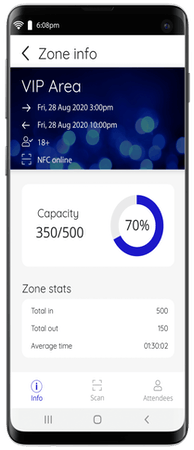 Nutickets capacity tracking
