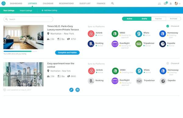 Vacayz listing management