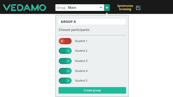 Vedamo breakout room groups