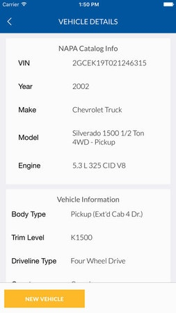 Vehicle details