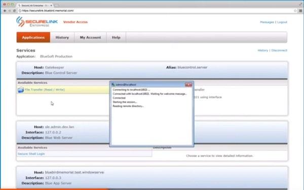 SecureLink vendor workflow