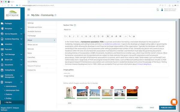 Vinteum website edit screenshot