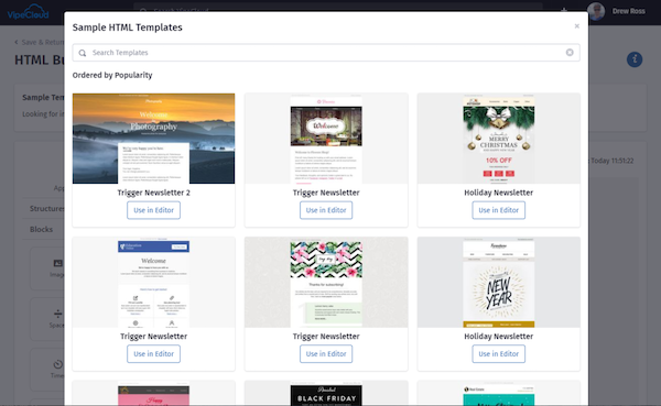 VipeCloud 250+ Email Templates