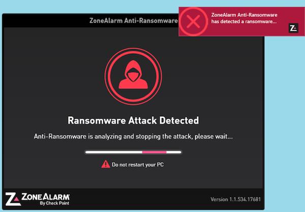 Virus detected window