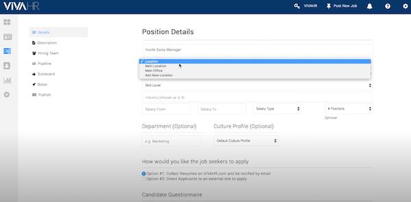 VIVAHR job position details