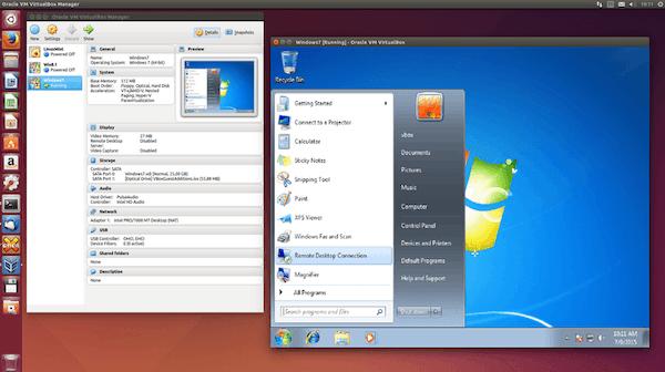 VirtualBox remote desktop connection