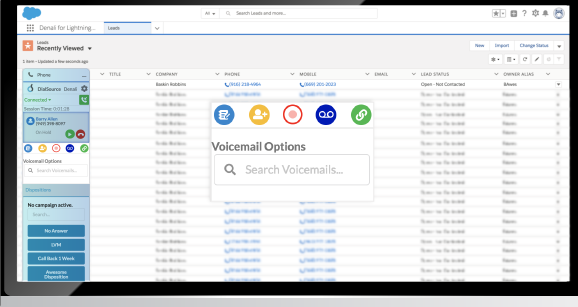 Voicemail options