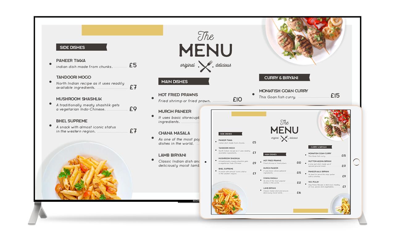 Display menus