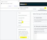 Walls.io browser notification