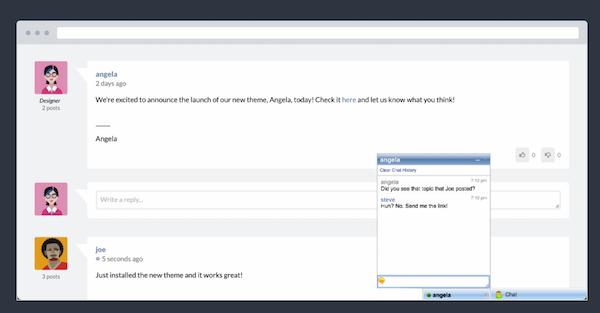 Website Toolbox messaging