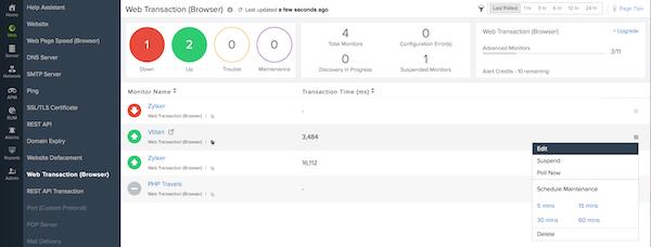 Site24x7 DNS monitoring