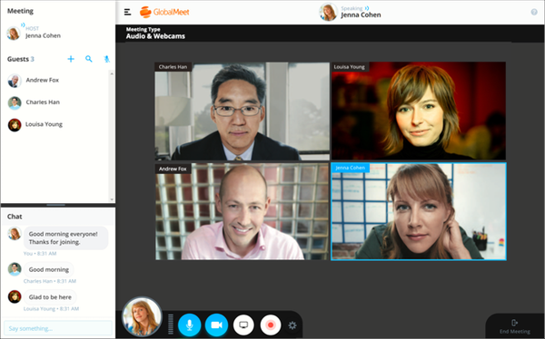 GlobalMeet Collaboration webcam meeting