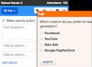 Webinars OnAir polls on social media
