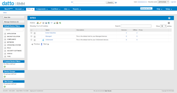 Datto RMM Web Portal