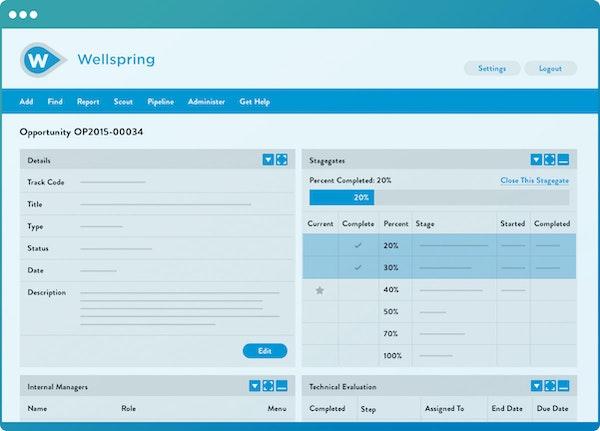 Wellspring Innovation Management workflow
